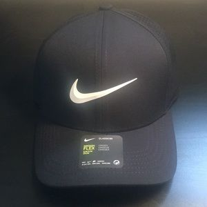 Nike hat, black with white logo, new with tags